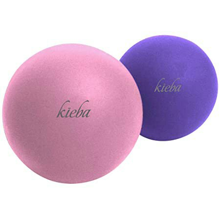 Kieba Massage Lacrosse Balls for Myofascial Release, Trigger Point Therapy, Muscle Knots, and Yoga Therapy. Set of 2 Firm Balls (Pink and Purple)  Brand: Kieba